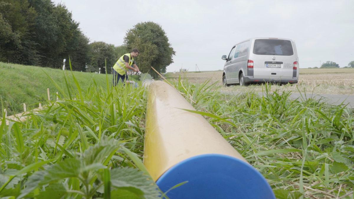 Bau Von Biogasleitungen
